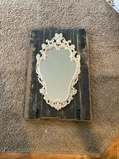Rustic Wall Mirror With Hooks