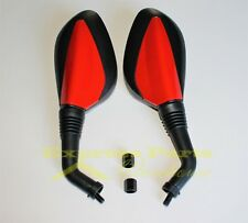 Red Rear View Mirrors 8mm GY6 Scooter Moped Vespa Peace 50cc 150cc 250cc. USA!!