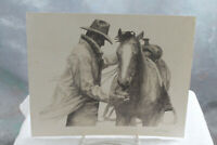 W H Ford Pencil Signed Lithograph Marlboro Cowboy & Horse PARTNERS 8 x 10