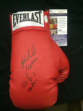 MICHAEL MOORER W/Record Signed Autograph Everlast Leather Lace Boxing Glove JSA