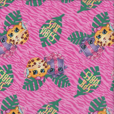 Shopkins on Pink SPK Vibes Girls Licensed Quilting Fabric  FQ or Metre *New*