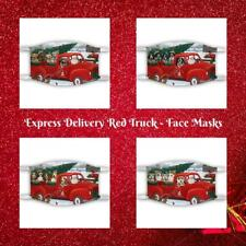 Christmas Express Delivery Red Truck Dog Cat Pet Photo Face Masks