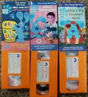 Blues Clues Vhs Lot Blues Big Treasure Hunt, ABC 123, Blues Discoveries Nick Jr.