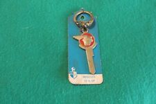 Vintage 1952 MERCURY emblem key blank with ring NOS