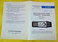 Ancien Fascicules Émetteurs - Récepteurs Vintage Type 3469C   68-83 MHz