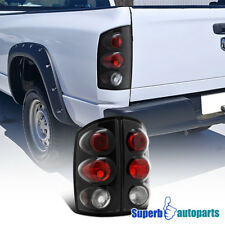 For 2002-2006 Dodge Ram Pickup Replacement Tail Lights Brake Lamps Black
