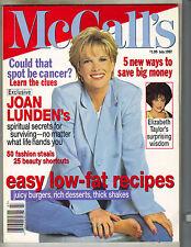 JOAN LUNDEN McCall's Magazine 7/97 ELIZABETH TAYLOR