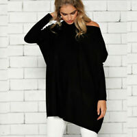 Womens Long Sleeve Oversized Pullover Sweater Jumper Casual Baggy Tops Blouse