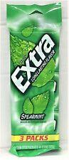 Wrigley's Extra Spearmint Long Lasting Flavor Sugar Free Gum 3 pack Wrigleys