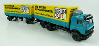 MB Wechselpritschen-Hängerzug Berlin 2000 Wiking 5710137 1:87 H0 OVP [K5-1]