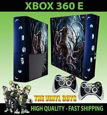 XBOX 360 E WEREWOLF LYCANTHROPE MOON  LUNAR STICKER SKIN & 2 PAD SKIN