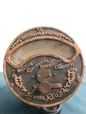 Antique Weston Electrical Voltmeter Brass And Iron 1901