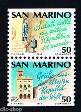 SAN MARINO 2 FRANCOBOLLI ANNO EUROPEO DEL TURISMO 1990 usato