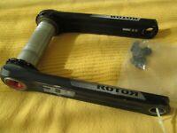 ROTOR 3D+ 172.5 Crank BB30 for Road or Triathlon Crankset
