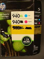 2 NEW Hp 940XL Cyan 940 Magenta Officejet Ink Jet Printer Cartridge EX 04-16