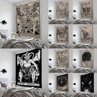 Tarot Tapestry Sun Divination Wall Hanging Mysterious Home Decor Blanket Throw