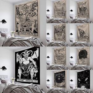 Indian Tapestry Sun & Moon Tarot Card Wall Hanging Hippie Mandala Home Art Decor