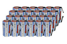 24 pcs Tenergy Sub C 3800mAh NiMH Rechargeable Battery SubC Sub-C w/Tabs