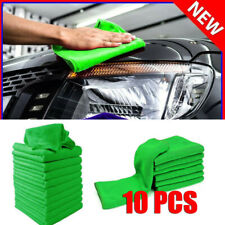 10 Pack Microfiber Cleaning Cloth No-Scratch Rag Car Polishing Detailing Towel