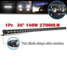 38inch 180W Spot Flood Combo Slim LED Work Light Bar Single Row Car 4WD Off road