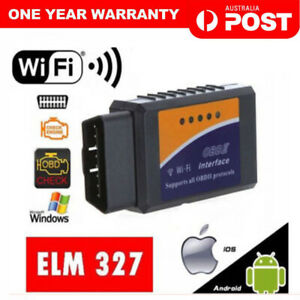 ELM327 OBDII OBD2 WiFi Car Engine Diagnostic Code Reader Scan iPhone Android IOS