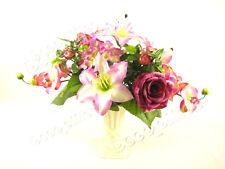 Potted Artificial Flowers Table Arrangement ~ artificial flower