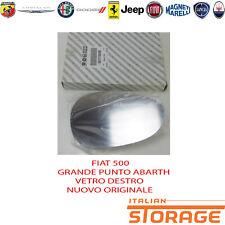 FIAT 500 GRANDE PUNTO ABARTH VETRO SPECCHIO DESTRO NUOVO ORIGINALE 71740495