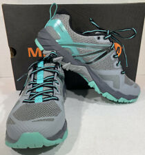 Merrell MQM Flex Women's Size 8 Grey/Teal Blue Athletic Training Shoes X5-1665