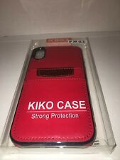 Iphone XR Red Leather Case