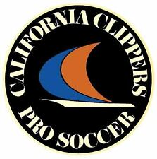 California Clippers Pro Soccer   1960's  Vintage Looking   Travel Decal Sticker