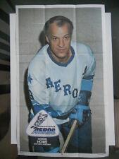 Gordie Howe OPC  WHA Hockey poster insert 1974
