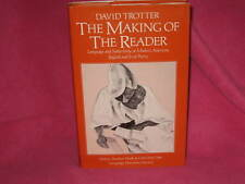David Trotter ~ The Making of the Reader. 1st HbDj  English Irish Poetry in MELB