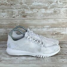 Reebok Flexagon Mens Size 9.5 White Athletic Cross Training Running Shoes