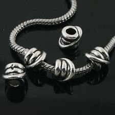 8pcs Tibetan Silver nice spacer Beads Fit European charm Bracelet L0006
