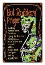 Hot Rodders Prayer Metal Sign Hot Rod Classic Car Chevy For Dodge Garage Race