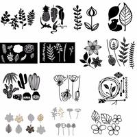 Blätter Kaktus Blume Metall Stanzschablonen Schablone DIY Scrapbooking Handwerk