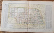 Antique MAP Of Nebraska - Atlas Of Franklin County Nebraska - Ogle & Co. 1923