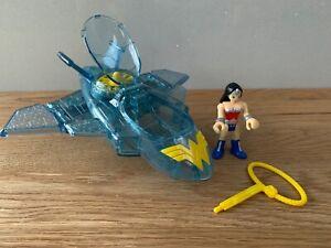 IMAGINEXT DC SUPER FRIENDS WONDER WOMAN & INVISIBLE JET - EXCELLENT CONDITION