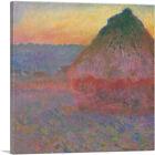 ARTCANVAS Haystack 1891 Canvas Art Print by Claude Monet