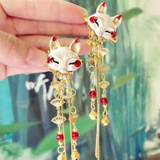 2X Chinese Hair Pin Clip Accessories Tassel Japanese Ancient Hanfu Fox Retro