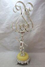Hollywood Regency Putti cherub pedestal napkin holder