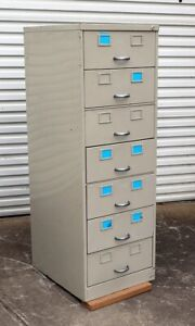Metal card storage filing cabinet