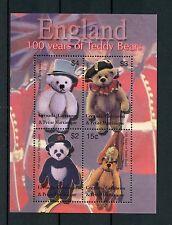 Grenadines Grenada 2002 MNH Teddy Bears of England 100th Anniv 4v M/S Stamps