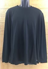 Starter Athletic Shirt Size XL 46-48 Black Dri-Star Long Sleeve Pullover