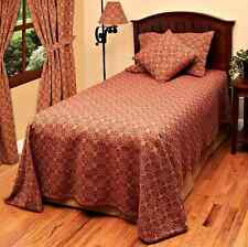 New Primitive Colonial Barn Red Tan LOVER'S KNOT COVERLET Bedspread Cover QUEEN