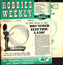 Vintage Hobbies Weekly Magazine, March 1957 No 3204 Drummer electric Lamp