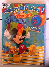 Geburtstagskarte Disney Mickey Mouse mit einstellbaren Jahreszahlen 3-9Jahre