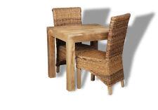 Dakota Mango 80cm Dining Table & 2 Rollback Chairs (57l&2b1lr)