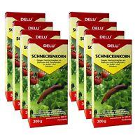 DELU Schneckenkorn 8 x 300 g - Nacktschnecken Bekämpfung Schnecken Schneckengift