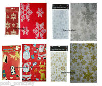 Wipe Clean Red Gold Silver Christmas Santa Snowflake Dinner Table Cover Cloth